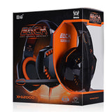 EACH G2000 Deep Bass Headphone Stereo Surround Over-Ear Gaming Headset Headband Earphone with Light for PC LOL Game