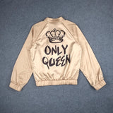 Online discount shop Australia - Bomber Jacket Women Basic Coats  Only Queen Letter Print Bomber Ladies Coat Outerwear  WT4515