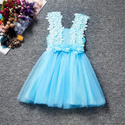 Online discount shop Australia - Kid  Dress For Girl Lace Flower Cute Little Princess Dresses Children Girls' Clothing For Birthday Party Tulle Tutu Dress