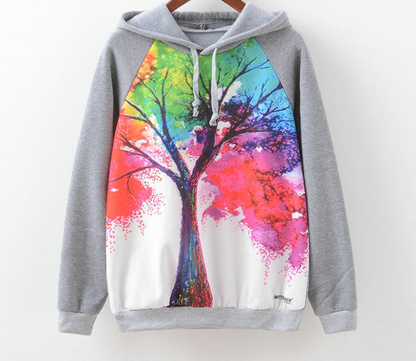 Online discount shop Australia - Brand Fashion Long Sleeve Women Sweatshirt Owl Print Hoodies Hooded Tracksuit Jumper Pullover
