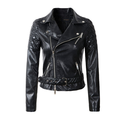 Online discount shop Australia - fashion pink sky blue women leather jacket bomber motorcycle Leather jackets women 3 color brand leather coat S-XL jaqueta couro