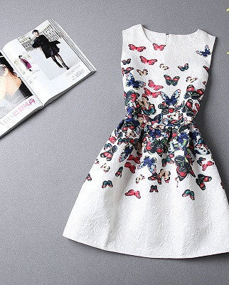 Online discount shop Australia - Fashion women dress sleeveless vintage summer dress new arrival party dresses print dresses vestidos