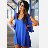 Summer dress casual women dress chiffon vestido de festa robe summer style plus size women clothing casual dress female