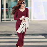 Women Elegant Dress Fashion Basic Women Clothing Plus Size S-5XL
