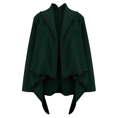 Online discount shop Australia - Irregular Fashion Jackets for Women's Basic Coats Female  Cardigan Cropped Coat Windbreaker DH483
