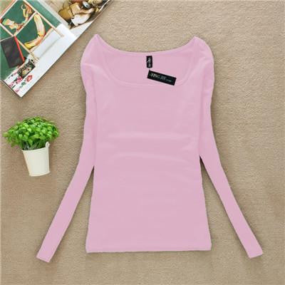 T Shirt Women Long Sleeve Tops Fashion T-shirts For Women Thermal Underwear Female T-shirt