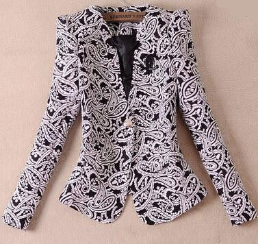 Women's Gold Vintage Long Sleeve V Neck Jacket and Coats Plus Size Female One Button Suit Thin Outwear