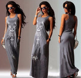 New Fashion Women Summer Sexy Casual Boho Long Maxi Evening Party Beach Dress Vest Sundress