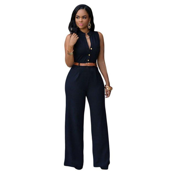 Sexy Jumpsuits Ladies Loose Slim Casual Party Overalls Long Pants Women Sleeveless Night Club Rompers
