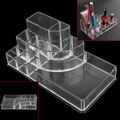 Online discount shop Australia - 8 Grids Clear Acrylic Makeup Organizer Cosmetics Display Storage Box Case Jewelry Make Up Lipstick Brush Holder Desk Racks