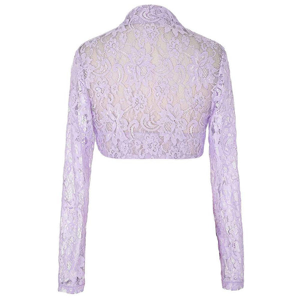 Online discount shop Australia - Elegant Women Ladies Long Sleeve Slim Casual Bolero Shrug Solid Color Plus  Short Coat Wedding Boleros Formal Shrugs