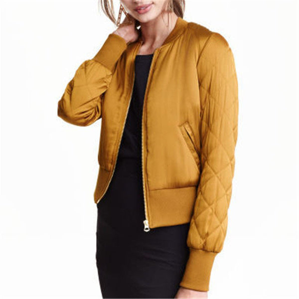 Online discount shop Australia - Fall Warm Women Basic Coats Jackets Stand Collar Bomber Short Coat Casual Outerwear Plus Size chaquetas