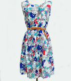 Online discount shop Australia - Casual Fashion plus size Work women's party dress + belt Flower prints dresses nz18