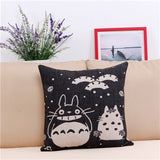 Online discount shop Australia - Miyazaki Totoro Cotton linen Pillow Case For office/bedroom/chair seat cushion 18x18 inches Decorative