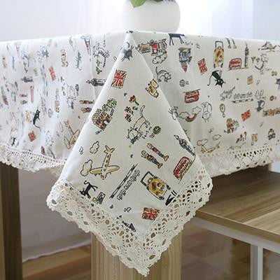 Table Cloth High Towel High Quality Lace Tablecloth Decorative Elegant Table Cloth Linen Table Cover HH1536As the picture showa