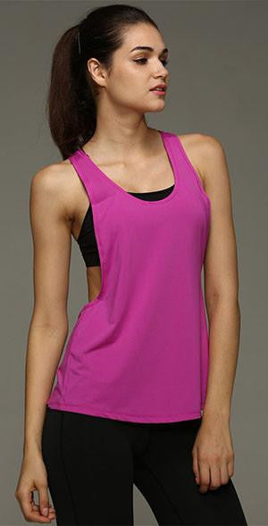 Vest Women Tank Tops Sleeveless Vest Dry Quick Loose Singlet Solid Color