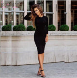New Long party dresses Autumn dresses High collar Sexy bandage Bottoming Women Dress Casual Dress