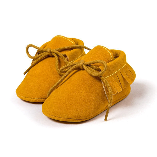 Online discount shop Australia - Baby Boy Girl Baby Moccasins Soft Moccs Shoes Bebe Fringe Soft Soled Non-slip Footwear Crib Shoes New PU Suede Leather Newborn