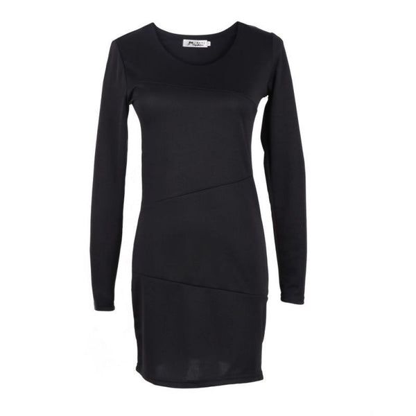 Online discount shop Australia - Autumn Vintage Sexy Women Casual Solid Bodycon Short Mini Pencil Dress Long Sleeve Party Slim Wrap Dresses Vestidos