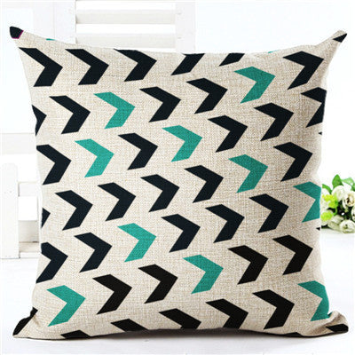Online discount shop Australia - Colorful Geometric Series Printed Linen Cotton Square 45x45cm Home Decor Houseware Throw Pillow Cushion Cojines Almohadas