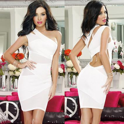 Summer Sexy Mini Nightclub Bandage Dress Women Bodycon Ladies Splicing Lace bandage Pencil dress vestidos
