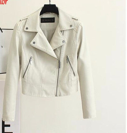 Online discount shop Australia - Brand Motorcycle PU Leather Jacket Women  And  New Fashion Coat 4 Color Zipper Outerwear jacket New Coat HOT