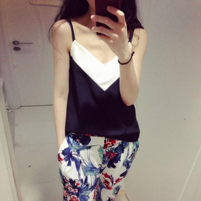 Online discount shop Australia - Fashion Women's V-Neck T-Shirt Tank Vest Tops Spaghetti Strap Girls