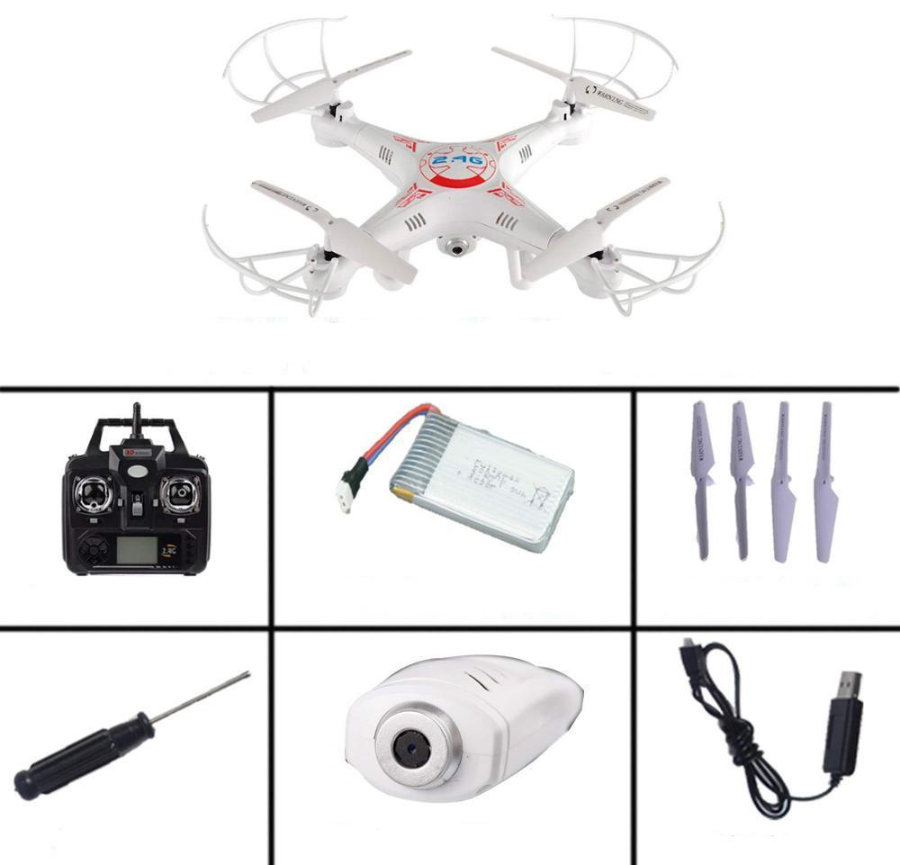 New Arrival X5C-1 2.4G 4CH 6-Axis Professional Aerial RC Helicopter Quadcopter Toys Drone With 0.3MP HD Camera Kids GiftsSET 2a