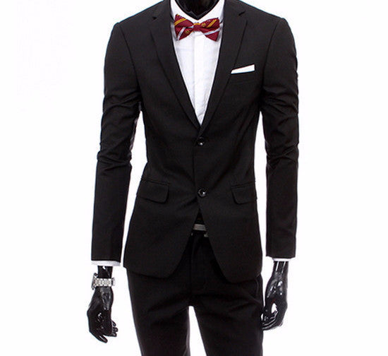 Online discount shop Australia - boutique men suit sets / Men's two button Blazers suit+vest+jacket pants