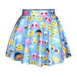 New funny 3D skirt mini skirt white/black/blue color cartoon skirt