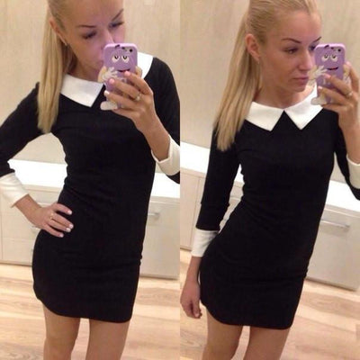 Slim Fit Spring Autumn Dresses Three Quarter Sleeve dresses Causal Dress for office work female ladies bandage J2323