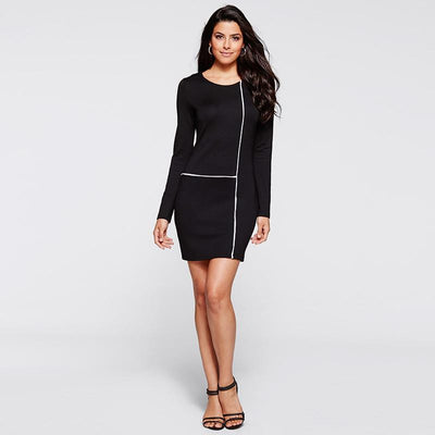 Women Autumn Sexy Casual Dress Elegant Party Mini Dresses Sheath Robe Self Portrait Black Nigh Club Bodycon Dress Vestidos