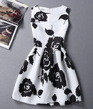 new women vintage sexy casual fashion summer slim dress print floral sleeveless plus size festa party dresses vestidos