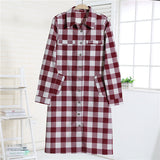 Online discount shop Australia - Dioufond Autumn Women Dress Long Plaid Casual Dress Long Sleeve Dresses Office Dresses Vestidos Robe Longue Femme Plus Size