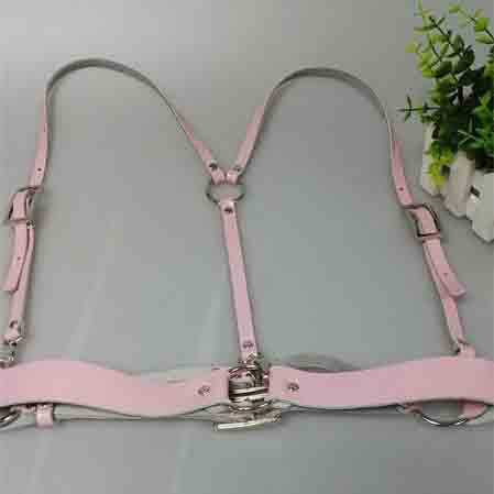 Basic Style Women Men Handmade Underbust Waist Belt Y Leather Harness Body Bondage Cage Straps