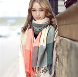 Online discount shop Australia - Fashion Wool Women Scarf Scarf Plaid Thick Large Scarf Women Warp