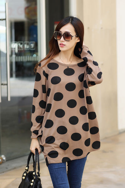 Online discount shop Australia - Autumn winter women dress plus size ropa mujer long sleeve o-neck print tunic tops loose vestidos invierno woman clothes