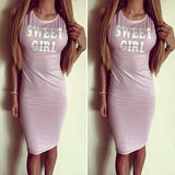 Womens Sexy Summer Bandage Bodycon Fashion Sexy Club Bandage Dress Sleeveless Slim Bodycon Dress Women Evening Party Dress