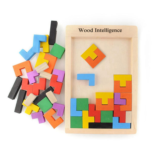 Online discount shop Australia - Colorful Wooden Tangram Brain Teaser Puzzle Toys Tetris Game Preschool Magination Intellectual Educational Kid Toy Children Gift