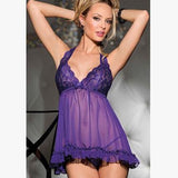 Online discount shop Australia - 5 Colours M-XXXL Plus Size Selling Women Full Lace Lingerie See Through Underwear Sleepwear Sexy Slips With Thongs