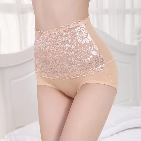 c7aa7626363 Sexy Lace Underwear High Waist Women Briefs Lady's Panties Model Breathable