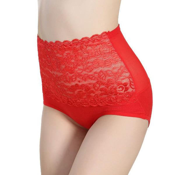 Lace Underwear High Waist Women Briefs Lady's Panties Model Breathable