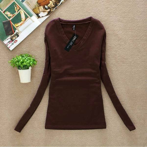 New Women Fashion Clothing Tops Ladies  Blouses Casual Long Sleeve Bottoming Shirts W00271