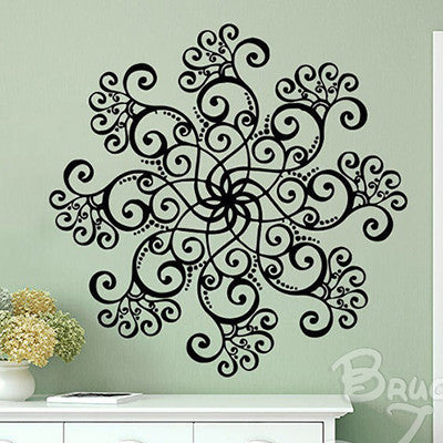 mandala wall sticker diy large wall stickers home decor wall decals