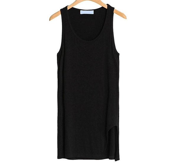 Online discount shop Australia - New Arrival Style Women Modal Casual Long Tanks Tops Sleeveless Solid Vest Beautiful Slim Tops with White and Black
