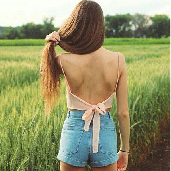 Online discount shop Australia - Fashion Sexy Women Sleeveless Camisole Shirt Casual Blouse Crop Tops Bra