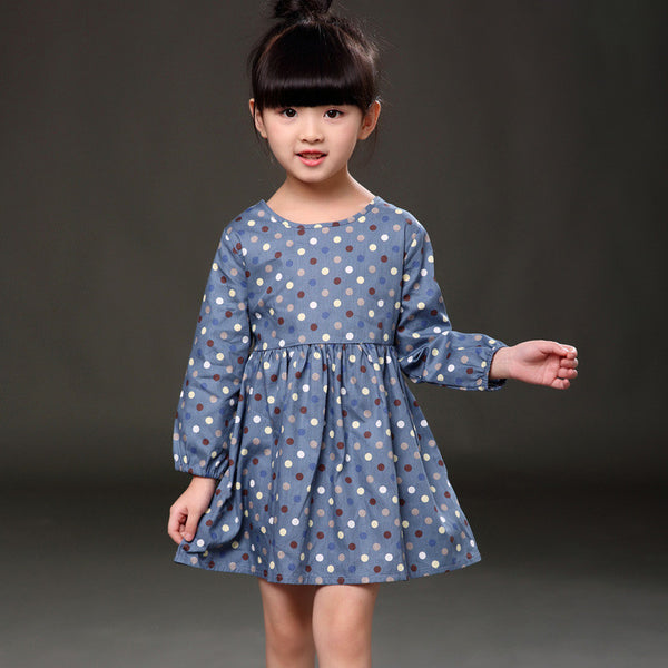 Online discount shop Australia - Long Sleeve Girl Dress New Casual Style Baby Girl Dresses Girls Clothes Dress for Kids Clothes 8 Colors