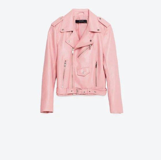 Online discount shop Australia - fashion Women Leather Jacket And The Wind Zipper Bright New Ladies Leather Coat Jacket Women