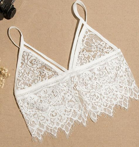 new brandy melville tops spaghetti strap ladies camisole lace bralette sexy tank top women crop top