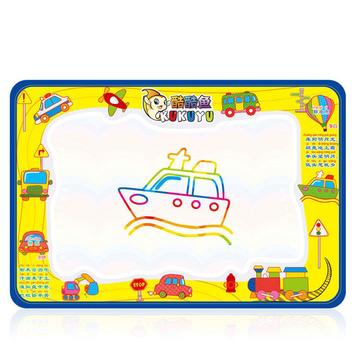 50x34cm Baby Kids Add Water with Magic Pen Doodle Painting Picture Water Drawing Play Mat in Drawing Toys Board Gift Christmasyellowa